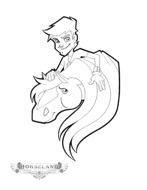 Horseland Coloring Pages Will And Jimber