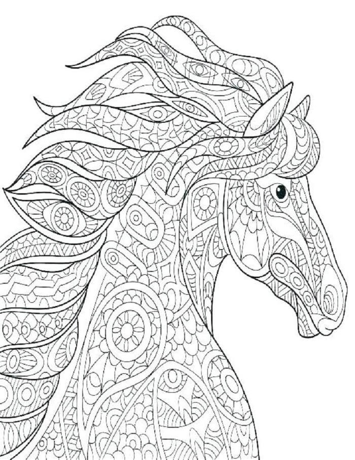 Horses Art Therapy Coloring Pages