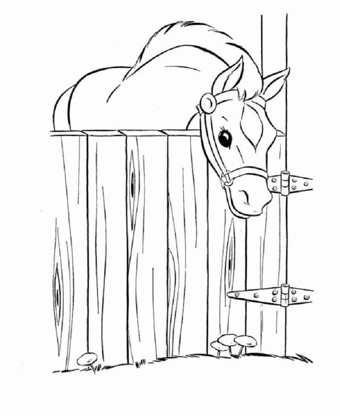Horses Barn Coloring Pages