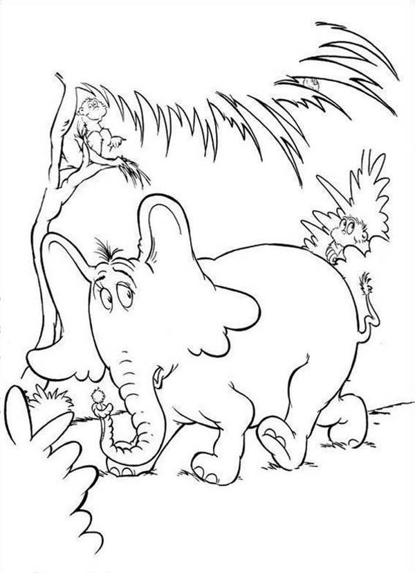 Horton Hears A Who Getting Away From The Wickershams Coloring Pages