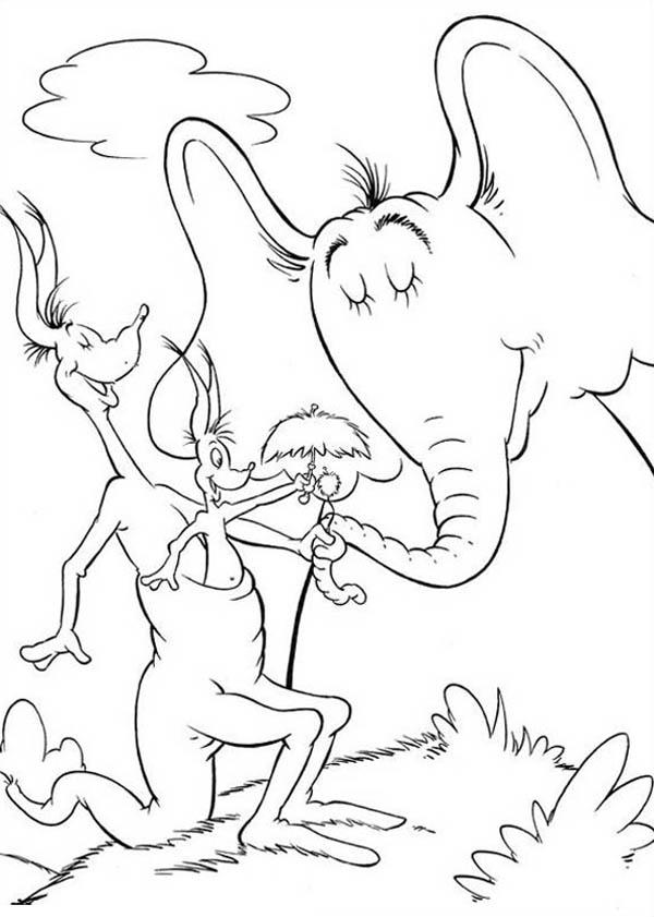 Horton Hears A Who Is Delight Meeting Jane Kangaroo Coloring Pages