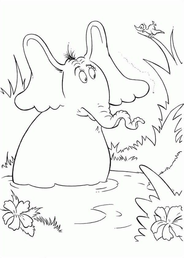 Horton Hears A Who Meet A Bird Coloring Pages