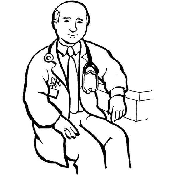 Hospital Male Doctor Coloring Pages