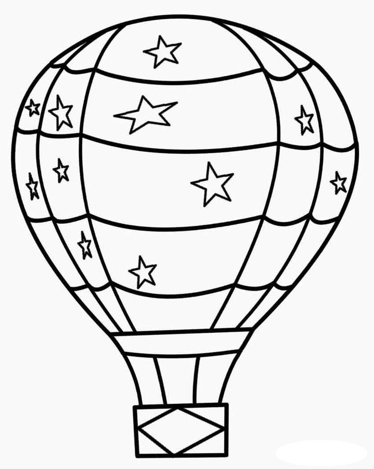 Hot Air Balloon Coloring Page Online