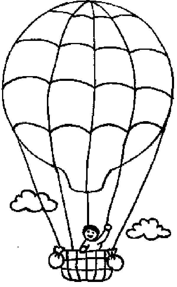 Hot Air Balloon Coloring Pages For Kindergarten