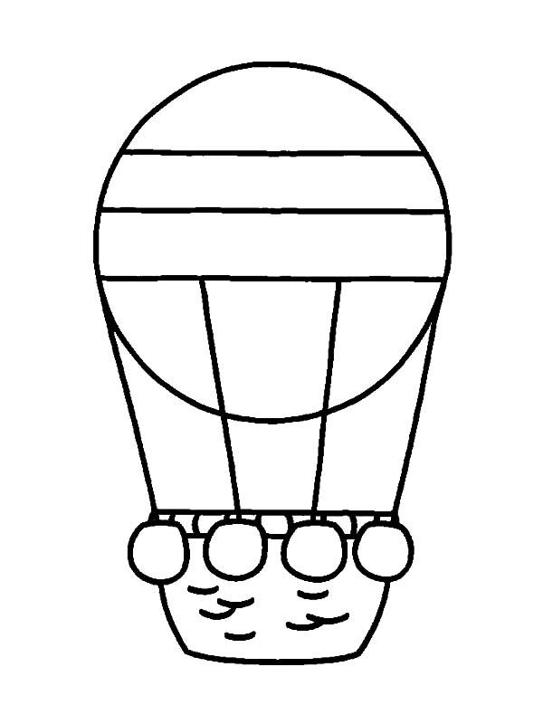 Hot Air Balloon Coloring Pages For Preschool