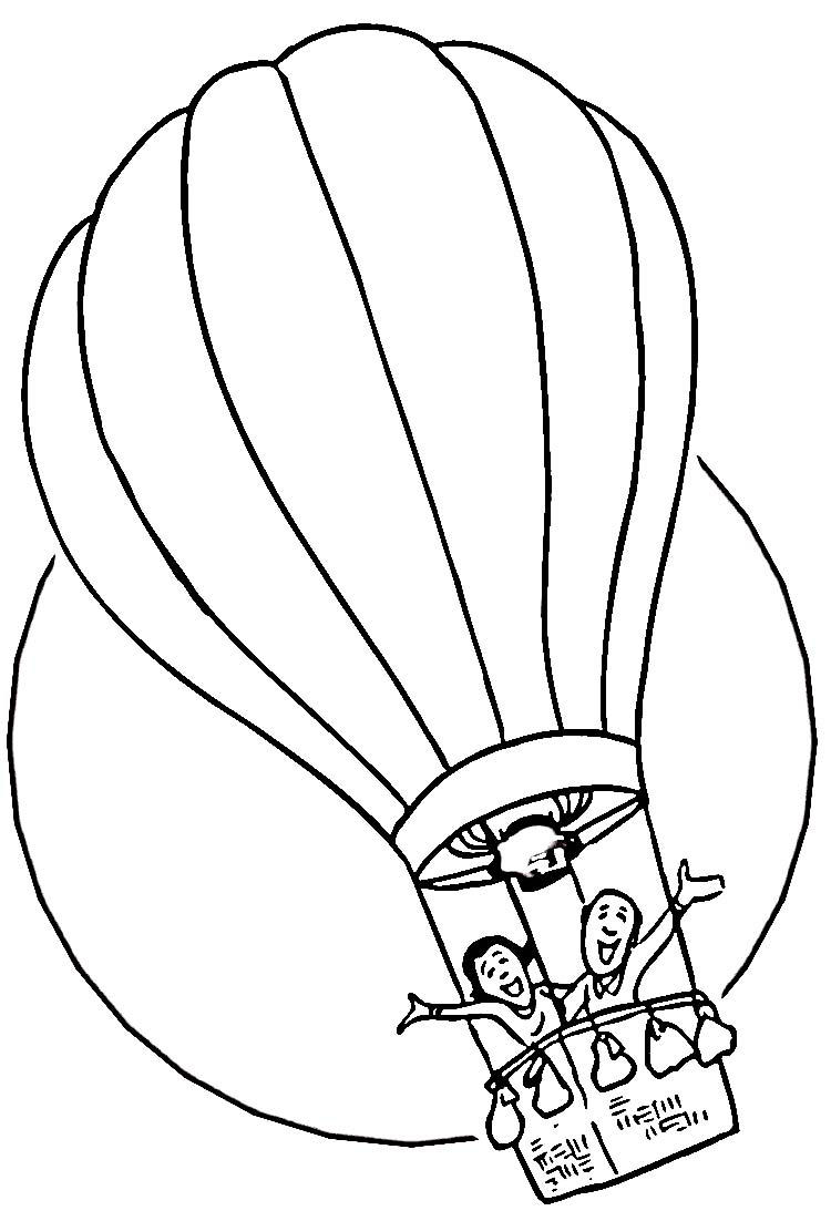 Hot Air Balloon Coloring Pages Kids Adventure
