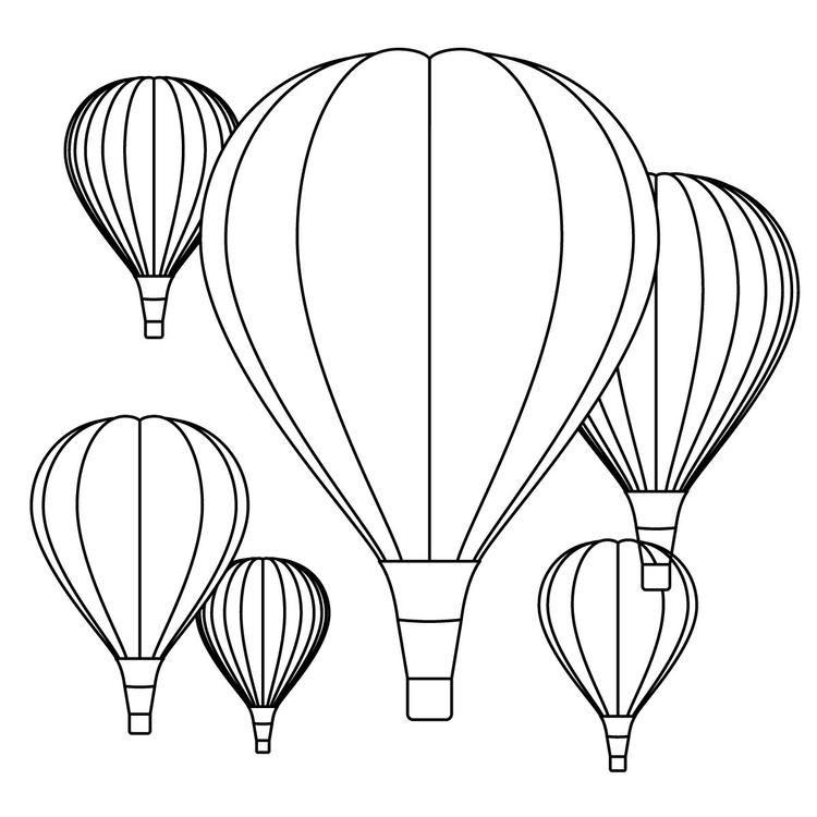 Hot Air Balloon Festival Coloring Pages