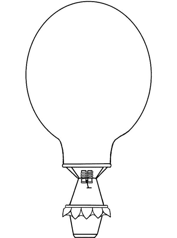 Hot Air Balloon Outline Coloring Pages
