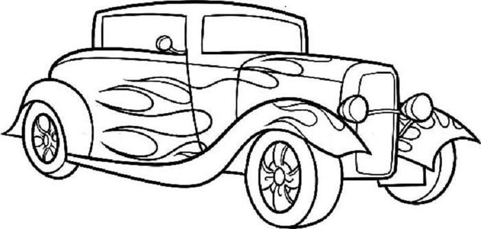 Hot Rod Cars Coloring Pages