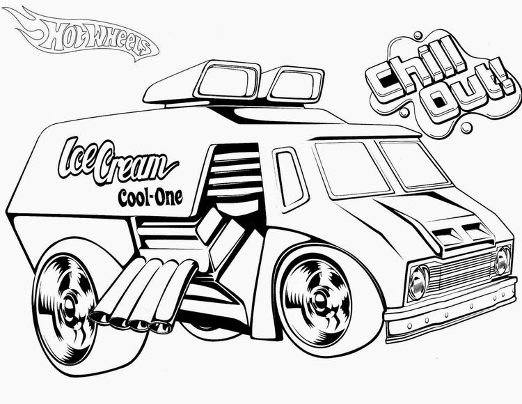 Hot Wheels Coloring Pages Chill Out