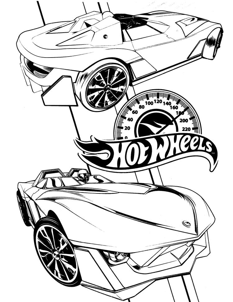 Hot Wheels Coloring Pages For Boys Printable