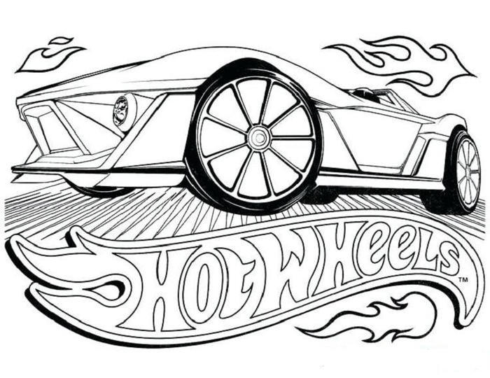 Hot Wheels Coloring Pages Free