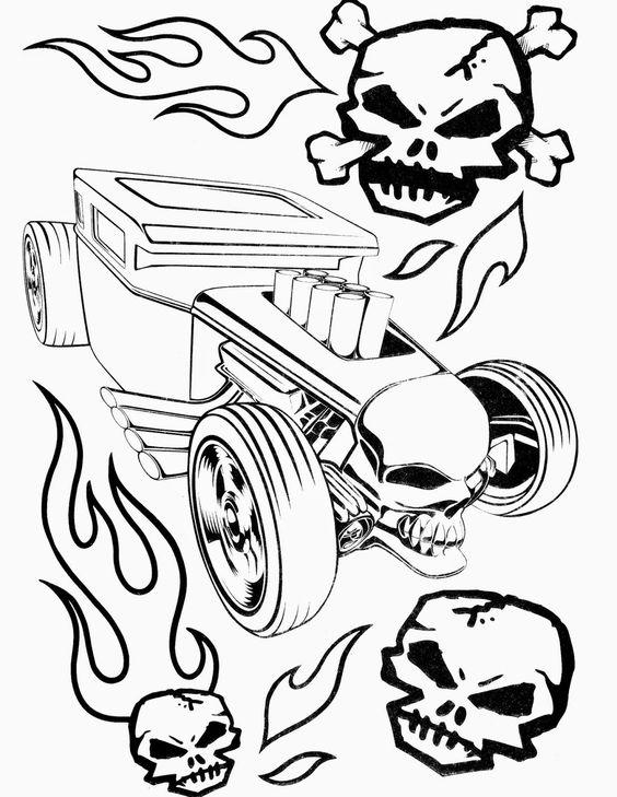 Hot Wheels Coloring Pages Hotrod Car