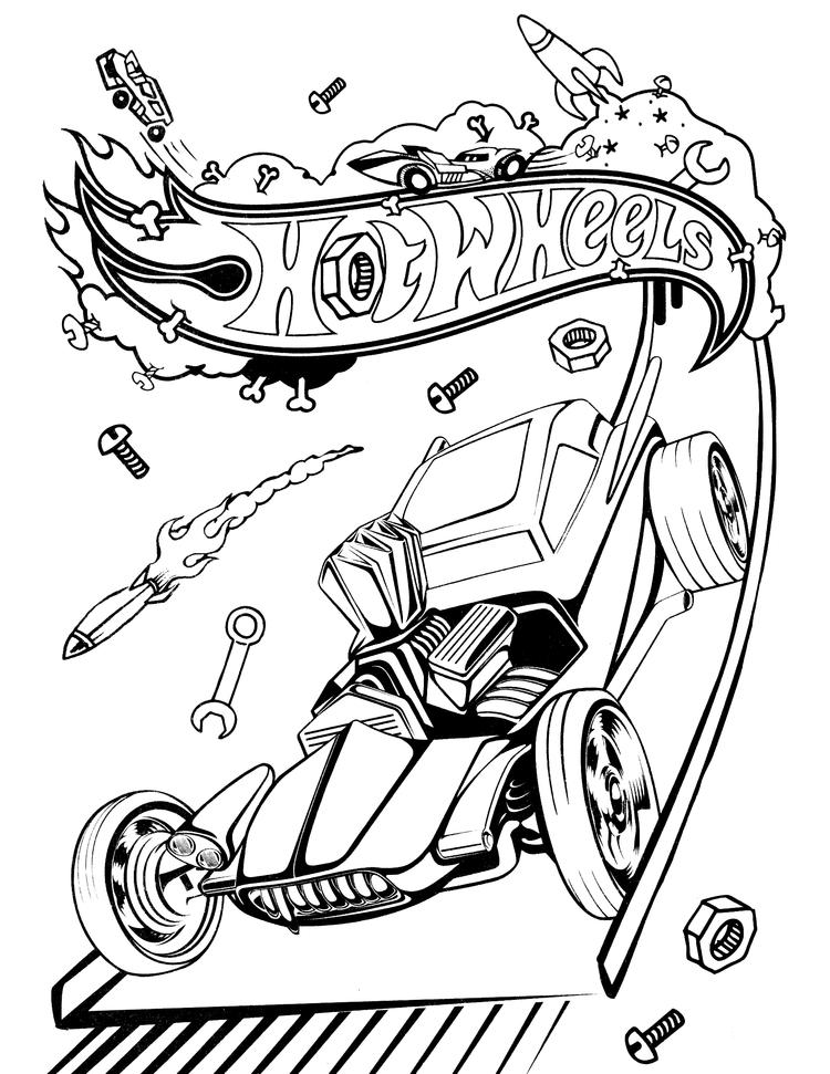 Hot Wheels Coloring Pages Hotrod