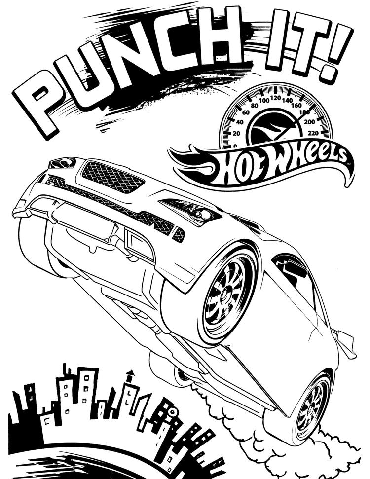Hot Wheels Coloring Pages Punch It