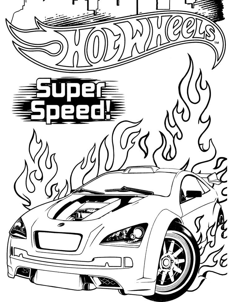 Hot Wheels Coloring Pages Super Speed