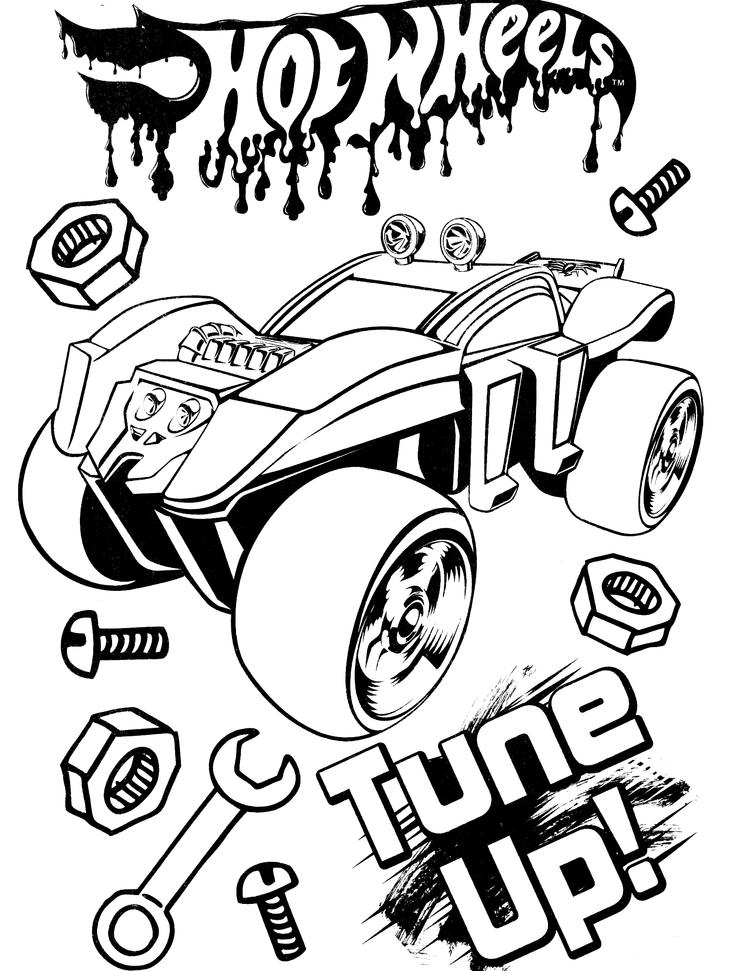 Hot Wheels Coloring Pages Tune Up