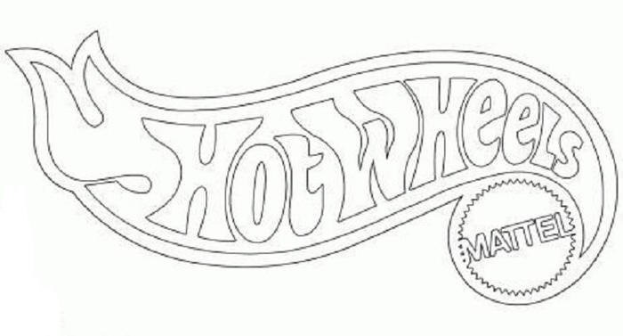 Hot Wheels Logo Coloring Pages