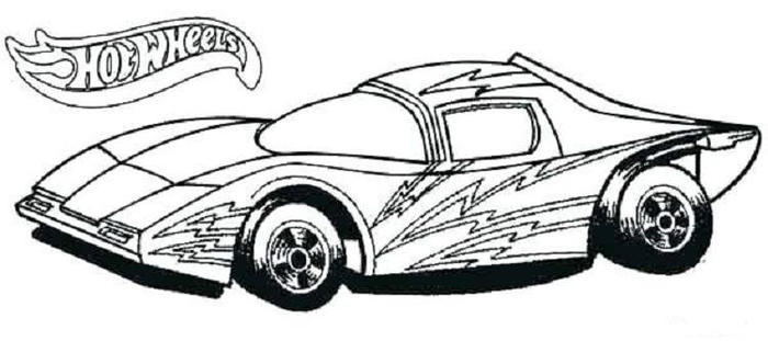 Hot Wheels Race Car Coloring Pages