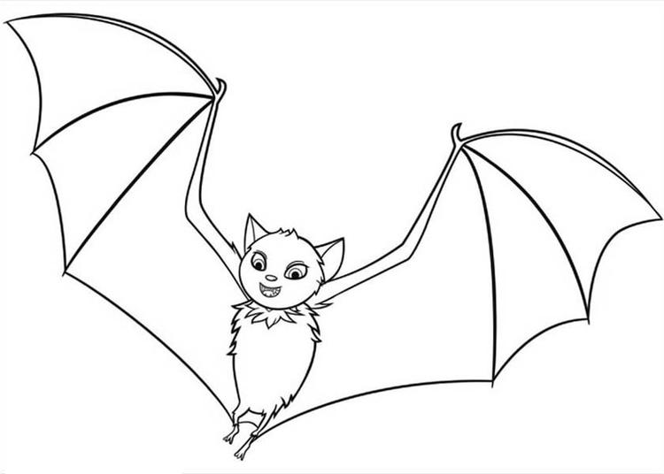Hotel Transylvania Flying Bat Coloring Pages