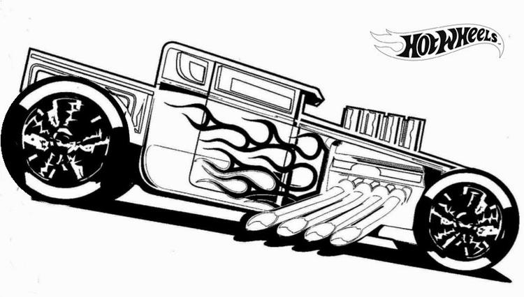 Hotrod Hot Wheels Coloring Pages