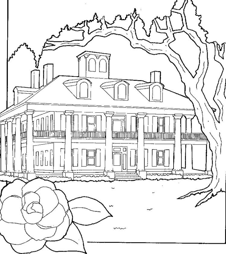 House Coloring Pages Big House