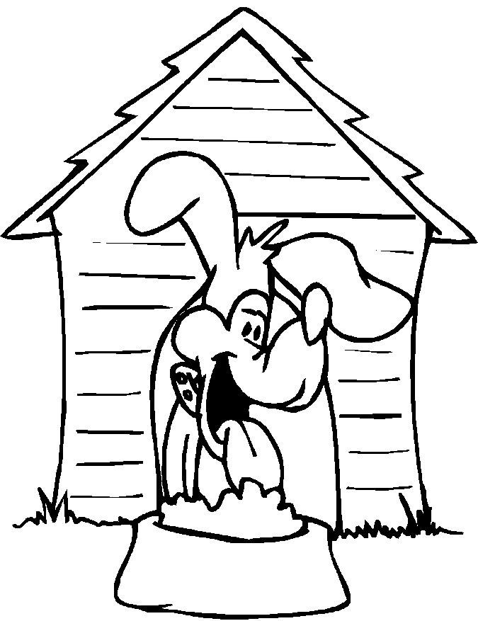 House Coloring Pages Dog House