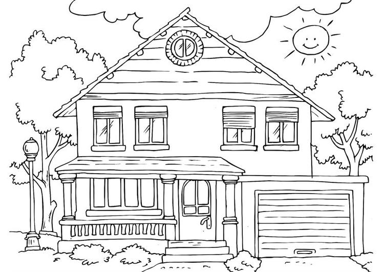 House Coloring Pages Free To Print