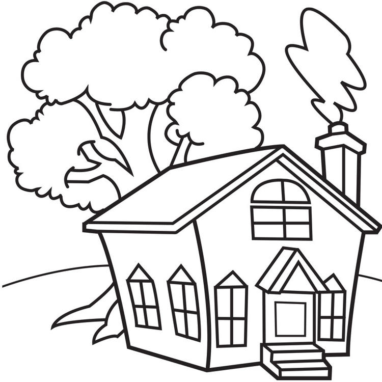 House Coloring Pages Printable For Kindergarten