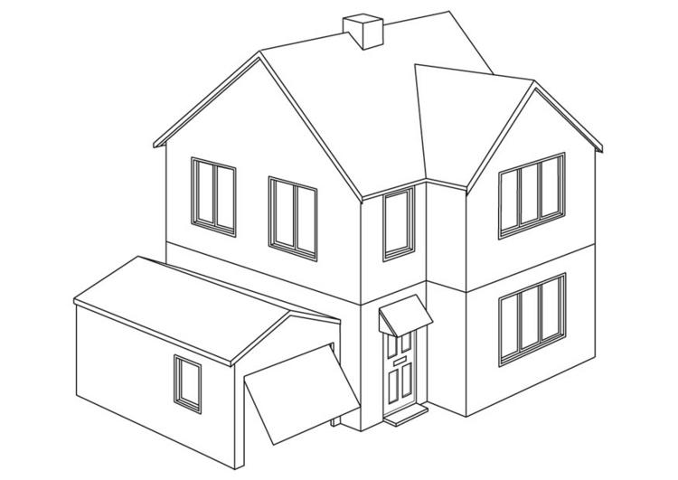 House Coloring Pages Printable Free