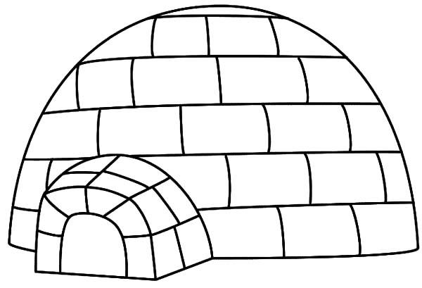 House For Eskimo People Igloo Coloring Pages