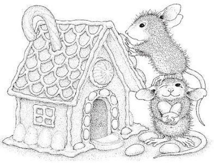 House Mouse Coloring Pages