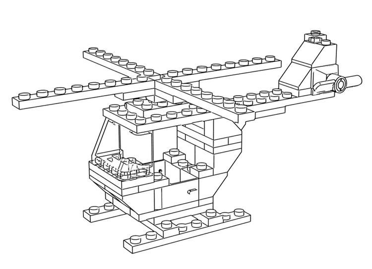 How It Is Made Lego Helicopter Coloring Sheet