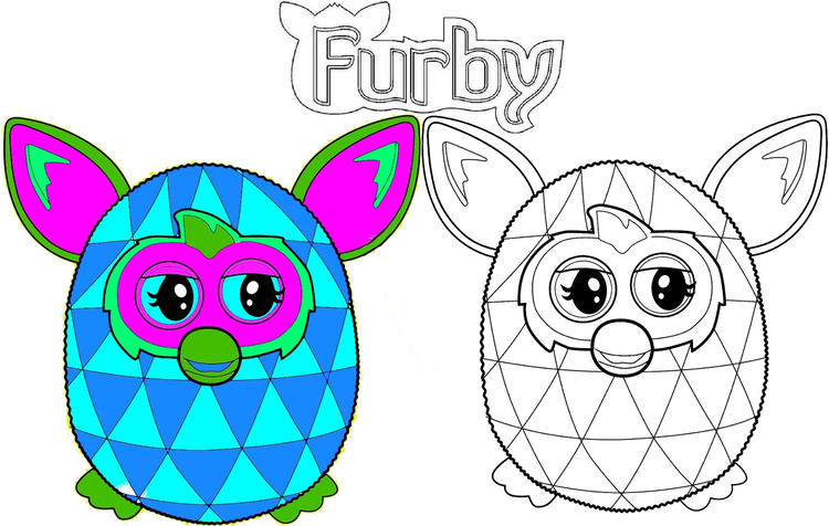 How To Color Furby Coloring Pages