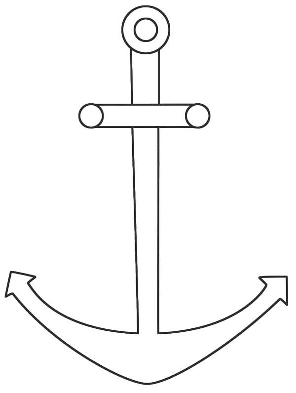 How To Draw Anchor Coloring Pages