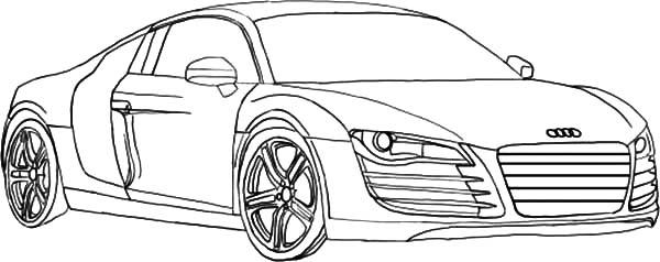 How To Draw Audi Cars Sedan Coloring Pages