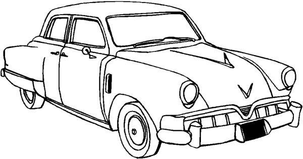 How To Draw Classic Cars Coloring Pages