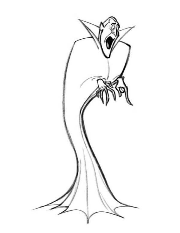 How To Draw Count Dracula Hotel Transylvania Coloring Pages