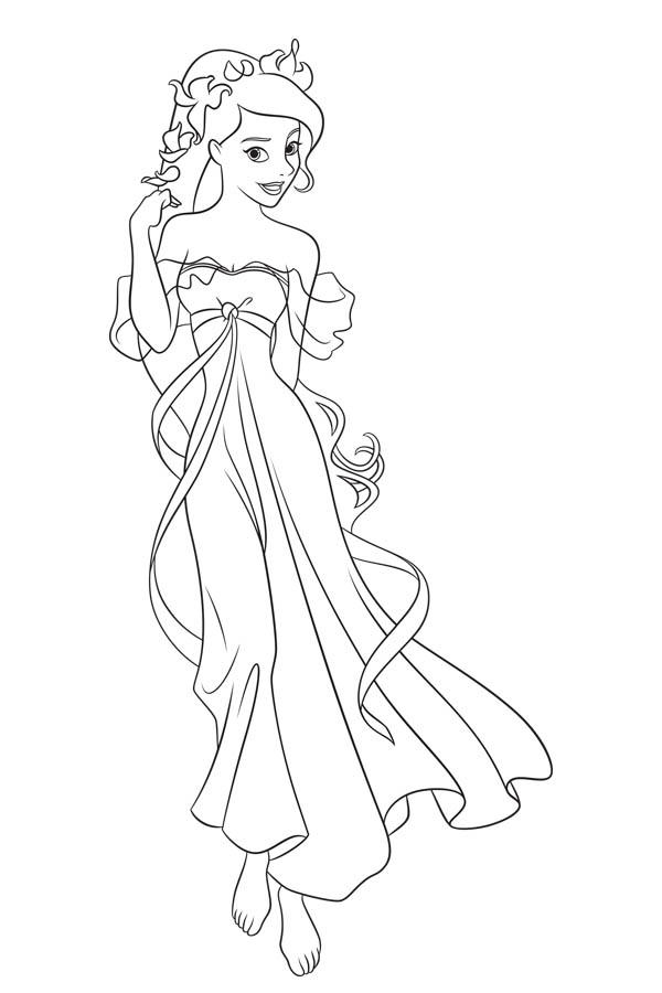 How To Draw Giselle In Enchanted Coloring Pages