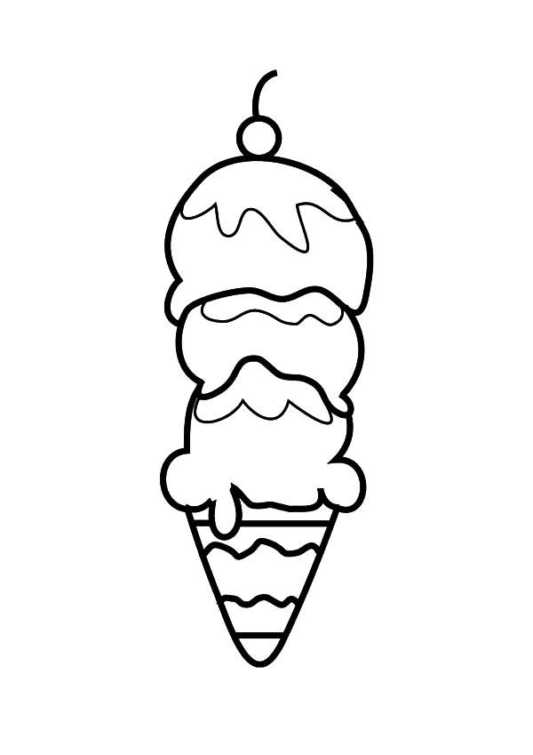 How To Draw Ice Cream Cone Coloring Pages