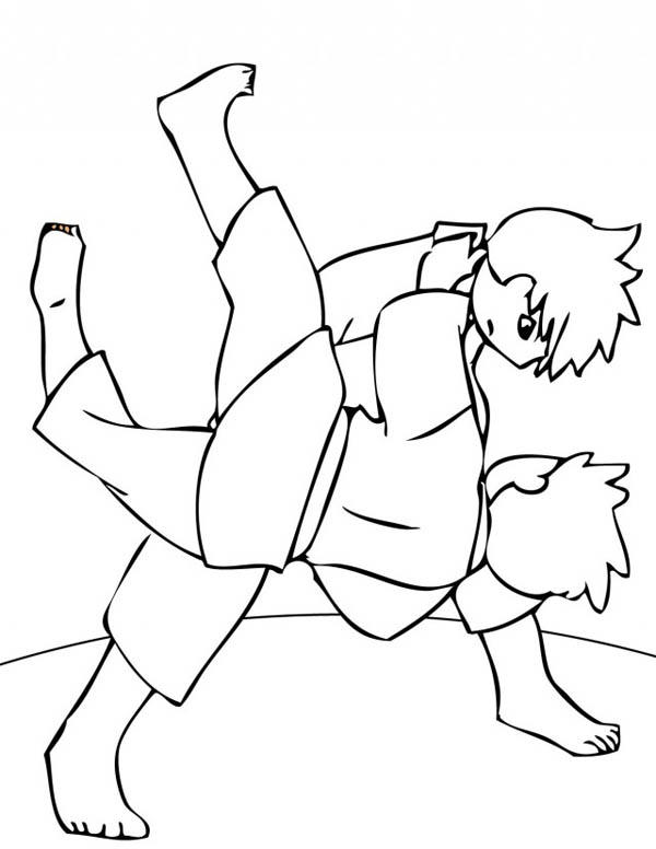 How To Draw Judo Coloring Pages