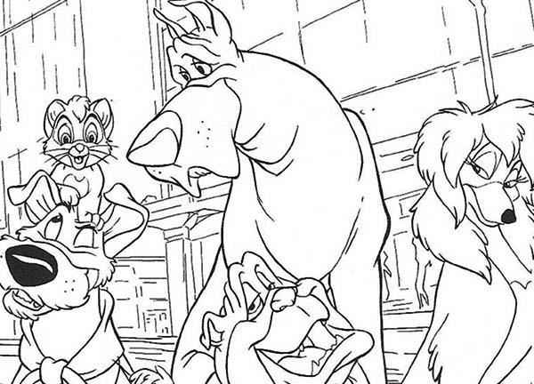 How To Draw Oliver And Company Coloring Pages