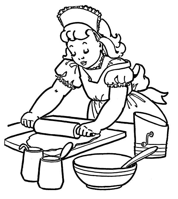 How To Make Cake At Bakery Coloring Pages