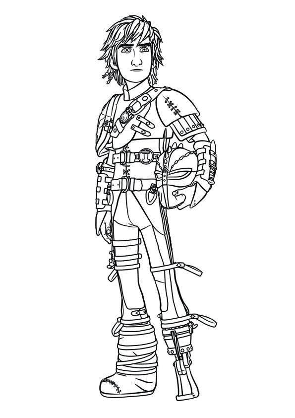 How To Train Your Dragon 2 Coloring Pages Hiccup