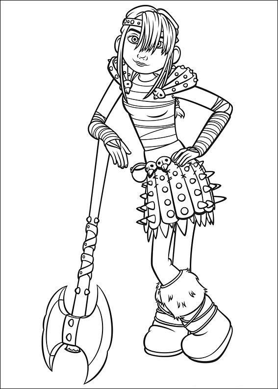 How To Train Your Dragon Coloring Pages Astrid Hofferson