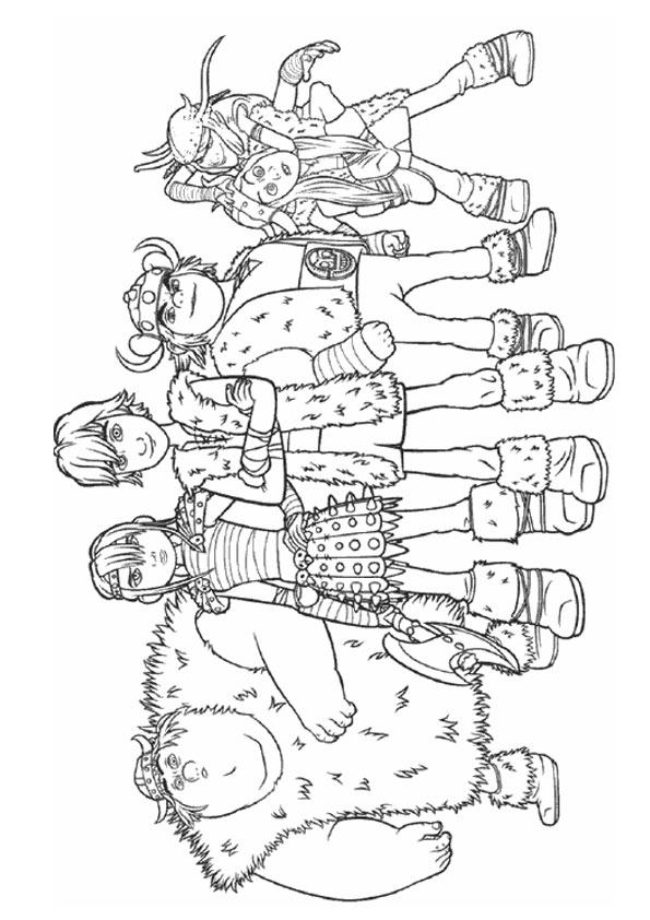 How To Train Your Dragon Coloring Pages Hiccup And Friends