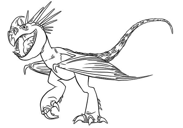How To Train Your Dragon Coloring Pages Stormfly Dragon