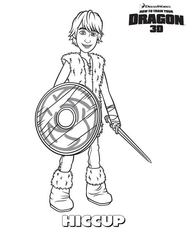 How To Train Your Dragon Main Character Hiccup Coloring Pages