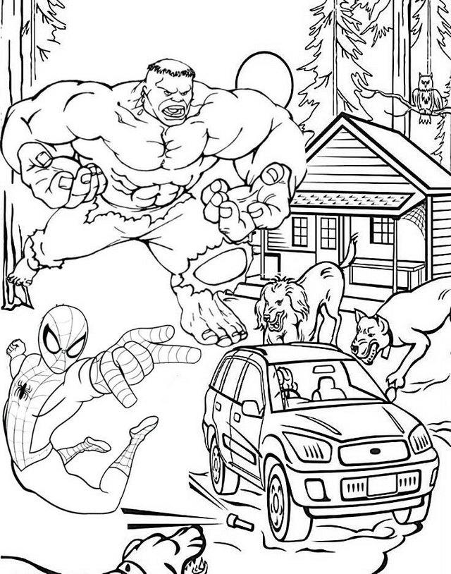 Hulk And Spiderman Avengers Coloring Pages For Fans